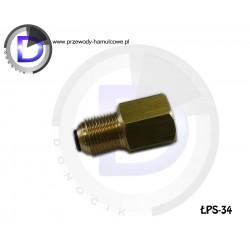 ŁPS-34 Łącznik redukcyjny przewodu hamulcowego M12x1 SF wew / M12x1 SF z oringiem zew