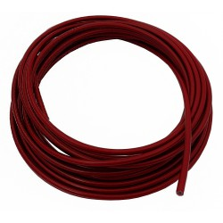 "Teflon steel braided brake hose 1/8"" DN3,2mm RED color cover"