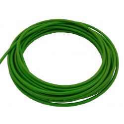 "Teflon steel braided brake hose 1/8"" DN3,2mm GREEN color cover"