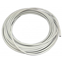 "Teflon steel braided brake hose 1/8"" DN3,2mm WHITE color cover"