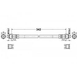 4079 elastyczny przewód hamulcowy OEM: 1684280235
