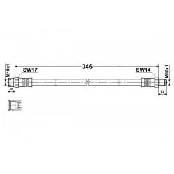 1774 elastyczny przewód hamulcowy OEM: 1234280635 W123