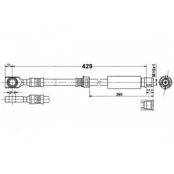 5194 elastyczny przewód hamulcowy OEM: 13136715