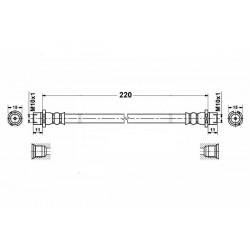 2828 elastyczny przewód hamulcowy OEM: 5562078  Astra G belka