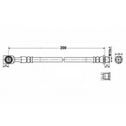 2818 elastyczny przewód hamulcowy OEM: 5562079  Astra G tarcze zacisk tył