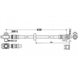 4779 elastyczny przewód hamulcowy OEM: 1J0611701 Leon 1, Toledo 2, Octavia 1, GOLF 4, New Beattle przód