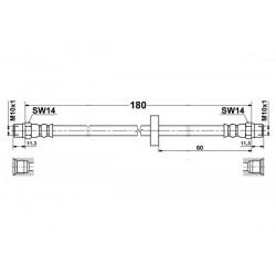 1351 elastyczny przewód hamulcowy OEM: 433611775A