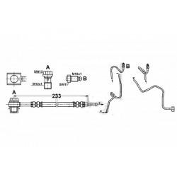 6211 elastyczny przewód hamulcowy OEM: 1J0611764AD A3, Leon 1, Toledo 2, Octavia Golf 4 prawy tył zacisk