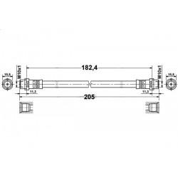 4775 elastyczny przewód hamulcowy OEM: 8D0611775E SuperB Passat B5 belka