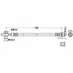 0342 elastyczny przewód hamulcowy OEM: 8E0611775B