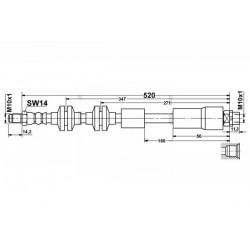0143 elastyczny przewód hamulcowy OEM: 34306771720