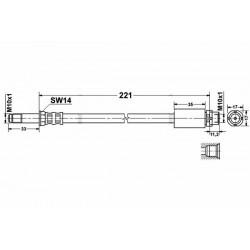 0145 elastyczny przewód hamulcowy OEM: 34306768851