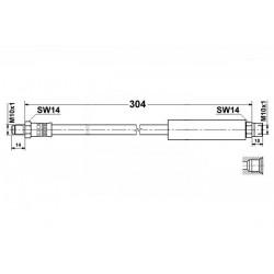 2301 elastyczny przewód hamulcowy OEM: 34321154904