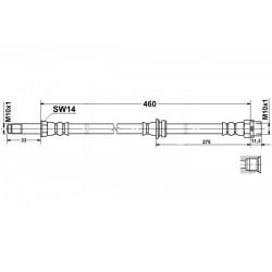 4074 elastyczny przewód hamulcowy OEM: 34301165074  BMW E46 tył