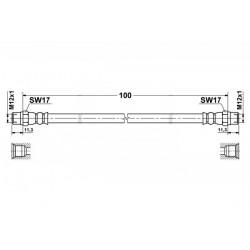 0041 elastyczny przewód hamulcowy OEM: 34321162616