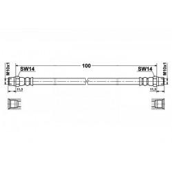 0051 elastyczny przewód hamulcowy OEM: 34321162612