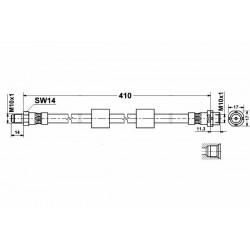 0052 elastyczny przewód hamulcowy OEM: 34301165249