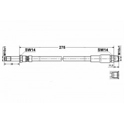 0048 elastyczny przewód hamulcowy OEM: 34301165190