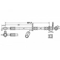 0115 elastyczny przewód hamulcowy OEM: 4806E1