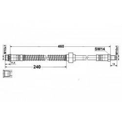 1146 elastyczny przewód hamulcowy OEM: 480691