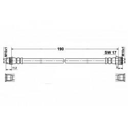 1143 elastyczny przewód hamulcowy OEM: 4806A1