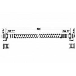 4649 elastyczny przewód hamulcowy OEM: 480664
