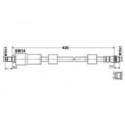 1104 elastyczny przewód hamulcowy OEM: 4806A0