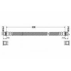 0113 elastyczny przewód hamulcowy OEM: 480698