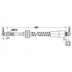 1105 elastyczny przewód hamulcowy OEM: 4806A6