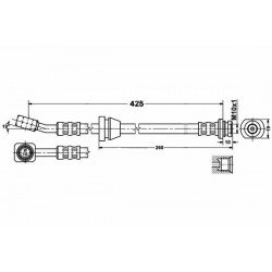 0602 elastyczny przewód hamulcowy OEM: 96316525