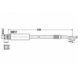 4679/1 elastyczny przewód hamulcowy OEM: 90473452