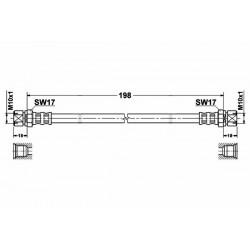 2813 elastyczny przewód hamulcowy OEM: 90235999  Lanos Nexia Espero Vectra B tył