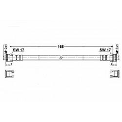 0311 elastyczny przewód hamulcowy OEM: 46803893 Fiat Panda tył