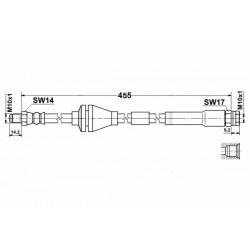8523 elastyczny przewód hamulcowy OEM: 46760308