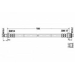 8516 elastyczny przewód hamulcowy OEM: 46809898