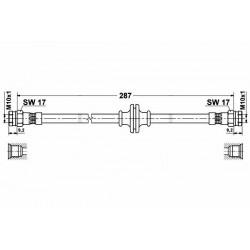 0485 elastyczny przewód hamulcowy OEM: 46809897