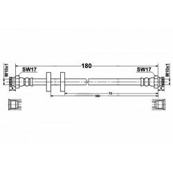 0614 elastyczny przewód hamulcowy OEM: 51790084