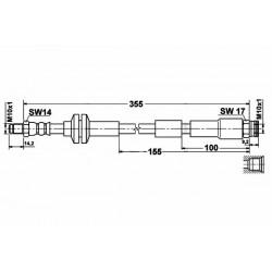 0805 elastyczny przewód hamulcowy OEM: 1563598 Fiat 500 przód