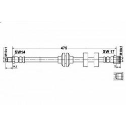 8505 elastyczny przewód hamulcowy OEM: 46738613