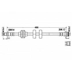 0489 elastyczny przewód hamulcowy OEM: 51776519