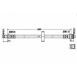 1150 elastyczny przewód hamulcowy OEM: 480672