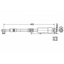 3679 elastyczny przewód hamulcowy OEM: 24436541 Vectra C przód