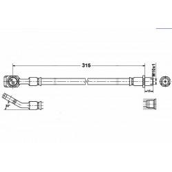 3680 elastyczny przewód hamulcowy OEM: 24436542  Vectra C tył