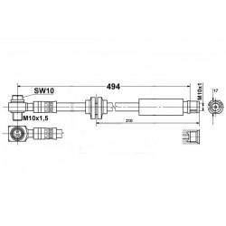 9054 elastyczny przewód hamulcowy OEM:13136715 INSIGNIA przód