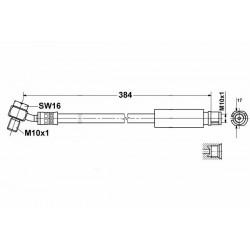 9055 elastyczny przewód hamulcowy OEM: 113237788 INSIGNIA tył
