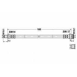 4654 elastyczny przewód hamulcowy OEM: 7586907