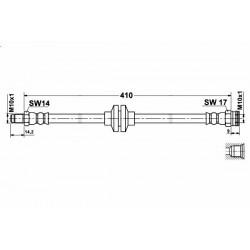 8433 elastyczny przewód hamulcowy OEM: 46454474