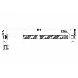 1162 elastyczny przewód hamulcowy OEM: 480692