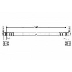 2146 elastyczny przewód hamulcowy OEM: 7704003549