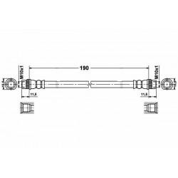 0226 elastyczny przewód hamulcowy OEM: 4806G1 Peugeot 207 przód